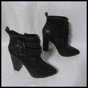 Like New Black Heeled Ankle Booties
